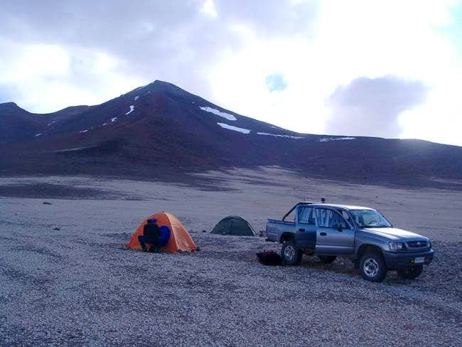 At the Base Camp of Cerro...