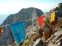 Tibetan prayer flags in the...