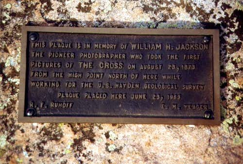 The plaque near the Notch...