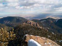 The west face of Vigil Peak...