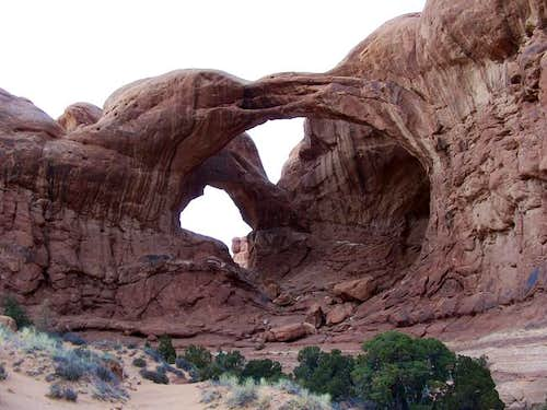 Double Arch is at the eastern...