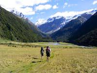 Going up the West Matukituki...