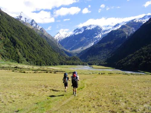 Going up the West Matukituki...