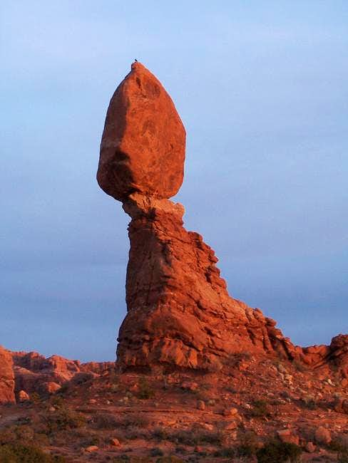 Balanced Rock, just west of...