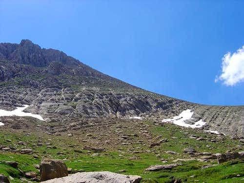 Col of Costatiza (right)...