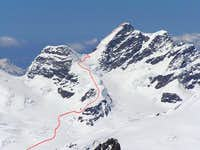 Upper part of Jungfrau ski...