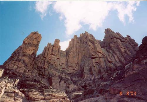 Rock formations as captured...