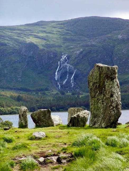 A fine five-stone circle in a...