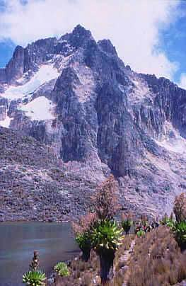 Mount Kenya from Hut Tarn,...