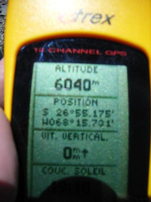 GPS datas from the summit