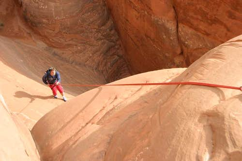 Rappel on the Ascent