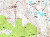 Topographic route map