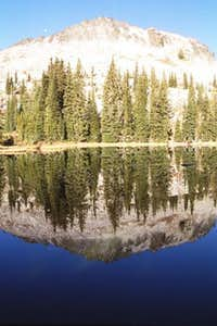 Slab Butte reflected in the...