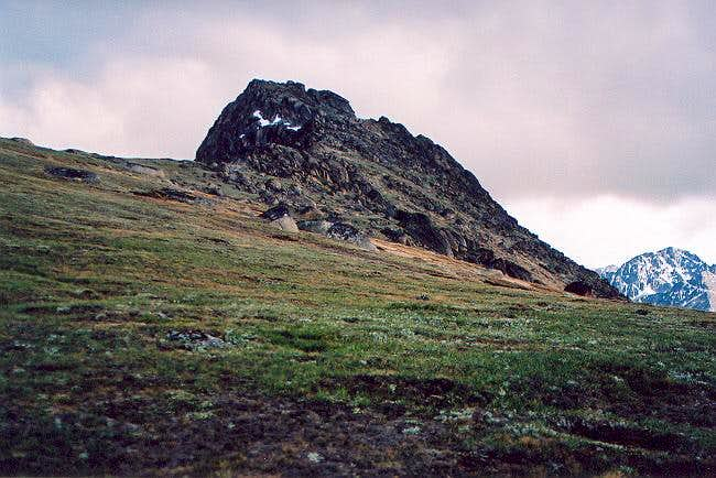 The south (main) summit from...