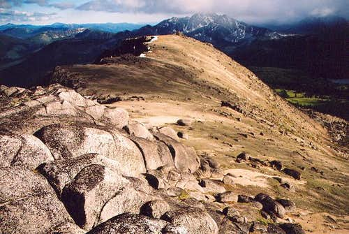 The ridge leading south from...