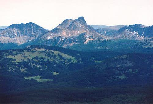 Cathedral Peak from the west...