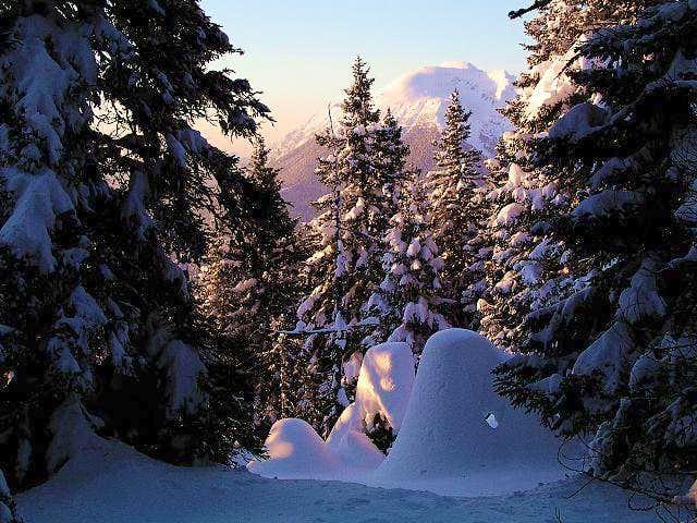 Evening below the summit of...