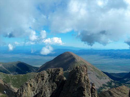 Humboldt Peak from the summit...