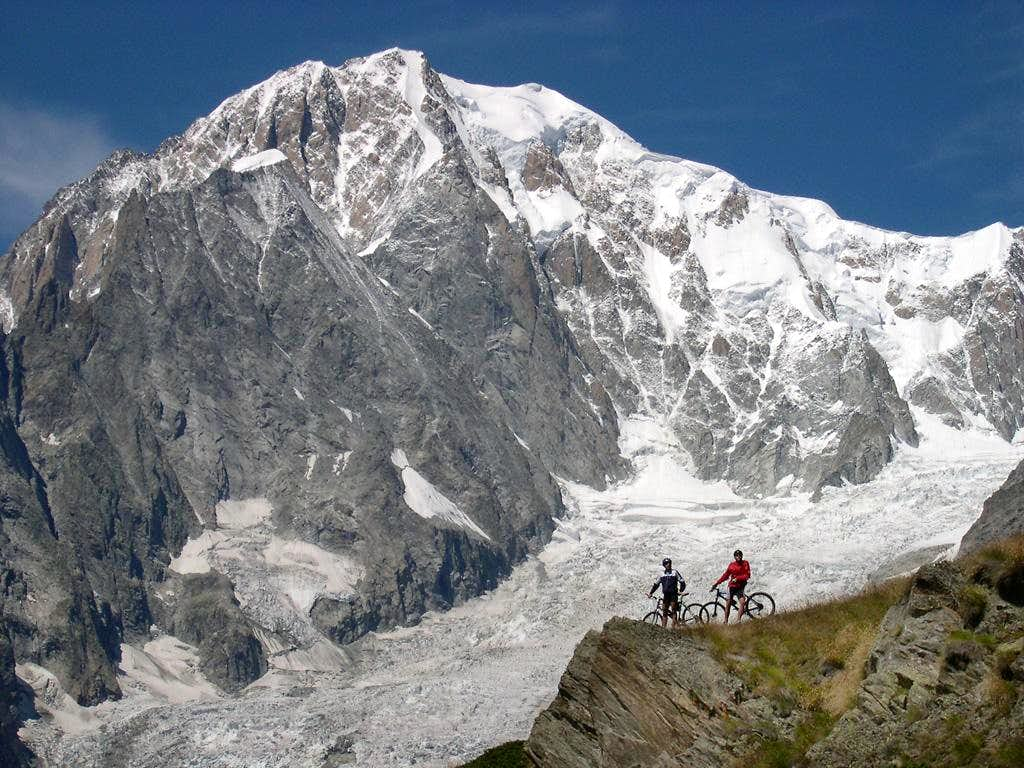 Mont Blanc from the surrounding of Bertone Hut