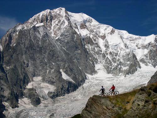 Mont Blanc from the surrounding of Bertone Hut