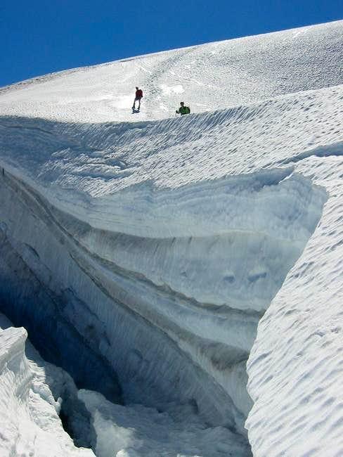 Challenger's Bergschrund was...