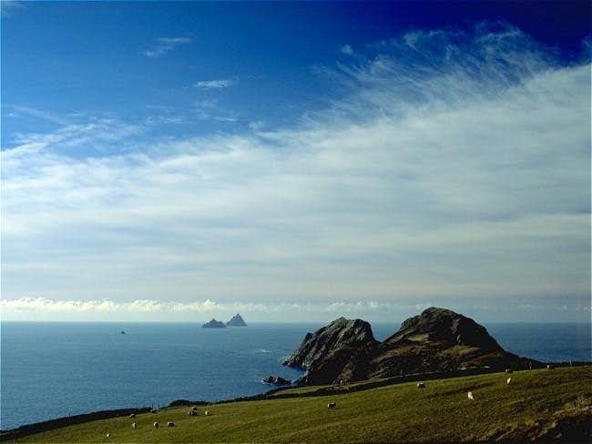 The two islands of Skelligs...