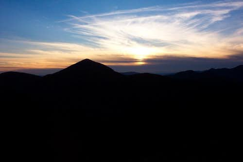 Sunset picture of Mt. Marcy...