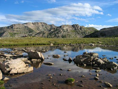 Watanga Mountain from a tarn...