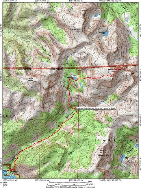 Topographic map of the...