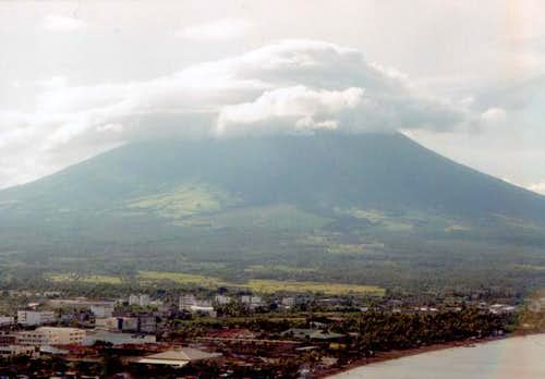 Mayon volcano hidden in the...