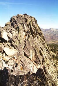The summit of Slab Butte....