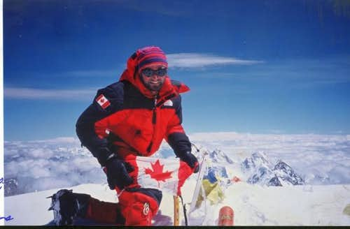 Andy Evan on the top of K2 in...