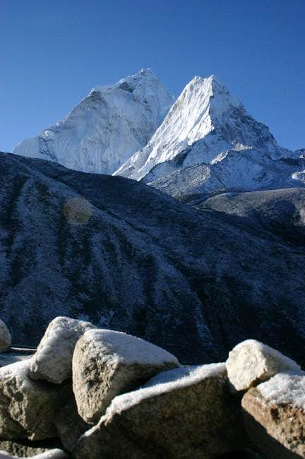 Morning view on Ama Dablam...