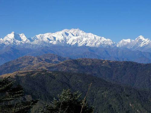 The Kangchenjunga massif as...