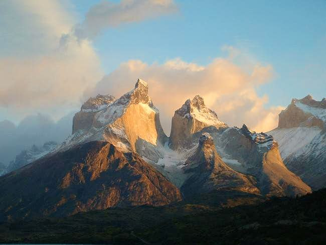 The cuernos from across the...