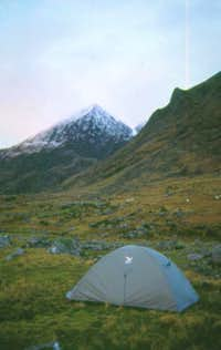 Our campsite the night before...
