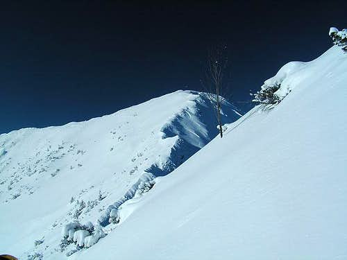 The final slope to the summit...