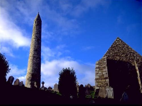 Irish Round Tower and Celtic...