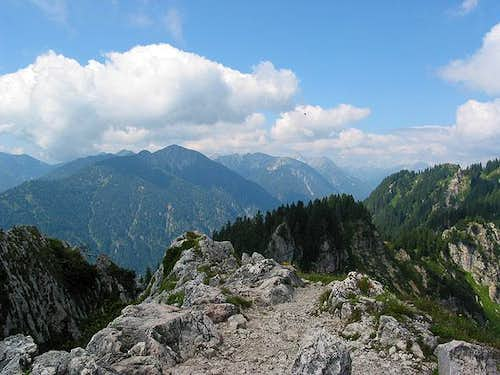 Notkarspitze from summit of...