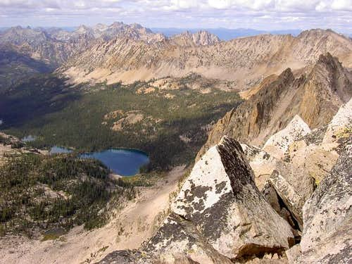 Upper Cramer Lakes from Summit