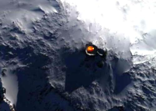 Space photo of mount Erebus...