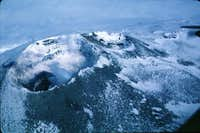 The crater of mount Erebus.