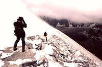 Heading down the summit...