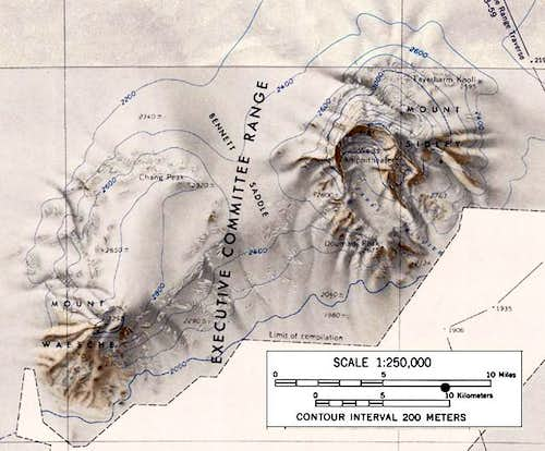 Topographic map of Mounts...