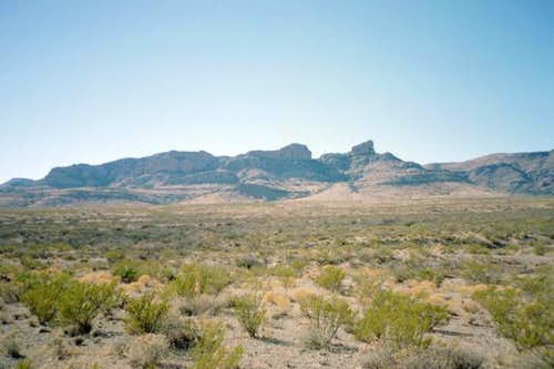 A view of Pierce Peak in the...