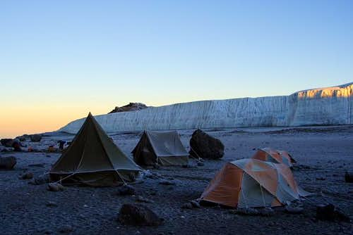 Crater Camp at 5,600m with...