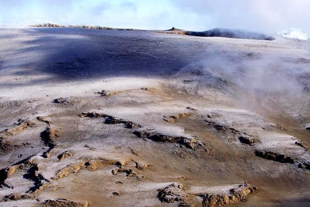 Eerie landscape in the crater