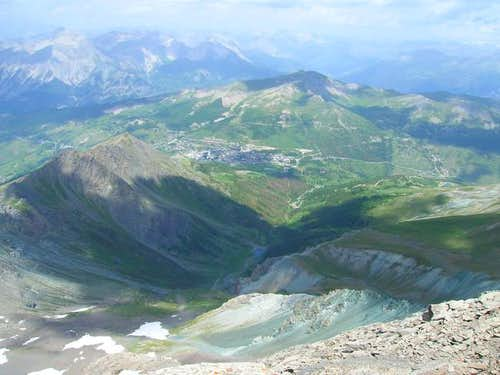 From the top: Sestriere and...