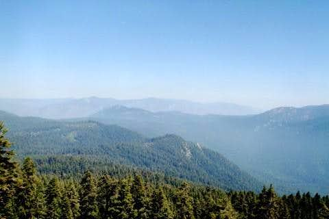 View looking southeast from Jordan Peak
