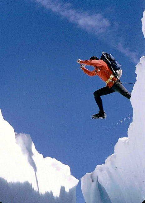 Jumping across the crevasse...